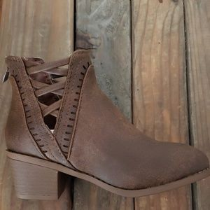 Taupe child bootie